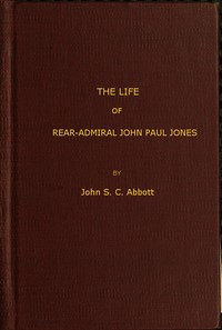 cover for book The Life and Adventures of Rear-Admiral John Paul Jones