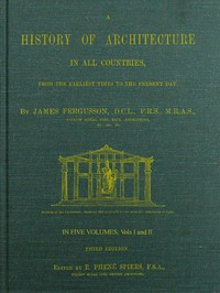 cover for book A History of Architecture in all Countries, Volumes 1 and 2, 3rd ed.