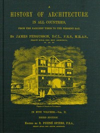 cover for book A History of Architecture in All Countries, Volume 2, 3rd ed.