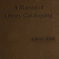 cover for book Manual of Library Cataloguing