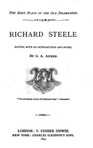 cover for book Richard Steele's Plays