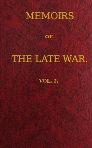 cover for book Memoirs of the Late War, Vol 2 (of 2)