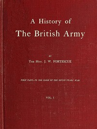 cover for book A History of the British Army, Vol. 1