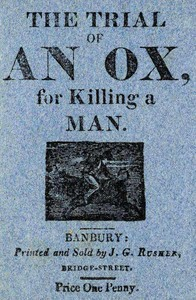 cover for book The Trial of an Ox, for Killing a Man;