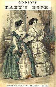 cover for book Godey's Lady's Book, Philadelphia, Volume 48, March, 1854