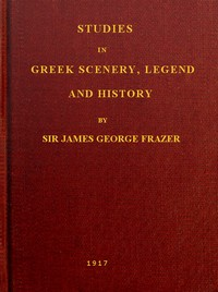 cover for book Studies in Greek Scenery, Legend and History