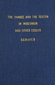 cover for book The Yankee and the Teuton in Wisconsin