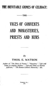 cover for book Vices of Convents and Monasteries, Priests and Nuns
