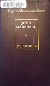 Cover of the book John Marshall by James Bradley Thayer