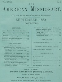 Cover of the book The American Missionary — Volume 35, No. 9, September, 1881 by Various