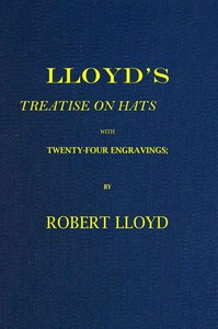 cover for book Lloyd's Treatise on Hats