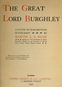 cover for book The Great Lord Burghley