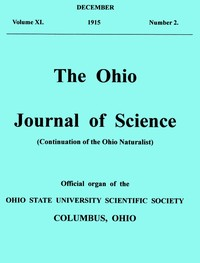 cover for book The Ohio Journal of Science. Vol. XVI., No. 2 (December, 1915)