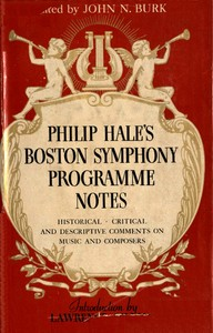 cover for book Philip Hale's Boston Symphony Programme Notes