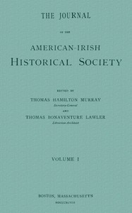 cover for book The Journal of the American-Irish Historical Society (Vol. I)