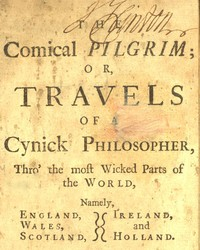 cover for book The Comical Pilgrim; or, Travels of a Cynick Philosopher...