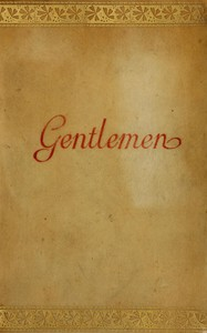 cover for book Simplex Munditiis, Gentlemen