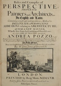 cover for book Rules and Examples of Perspective proper for Painters and Architects, etc.
