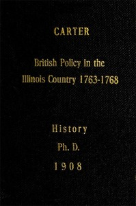 cover for book British Policy in the Illinois Country, 1763-1768
