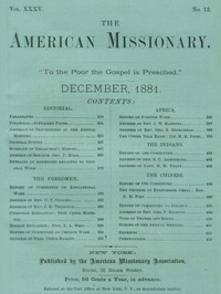 Cover of the book The American Missionary — Volume 35, No. 12, December, 1881 by Various