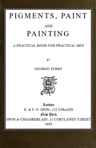 cover for book Pigments, Paint and Painting