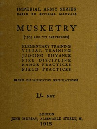 cover for book Musketry