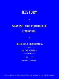 cover for book History of Spanish and Portuguese Literature (Vol 2 of 2)