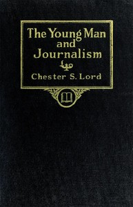 cover for book The Young Man and Journalism