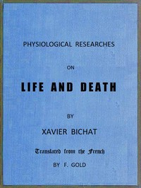 cover for book Physiological Researches on Life and Death