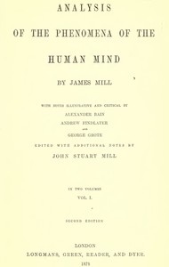 cover for book Analysis of the Phenomena of the Human Mind