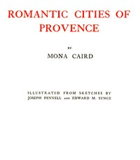 cover for book Romantic Cities of Provence