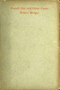 cover for book Purcell Ode and Other Poems