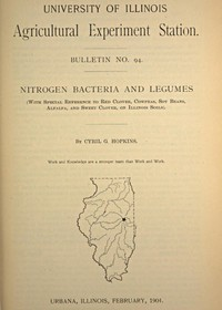 cover for book University of Illinois Agricultural Experiment Station Bulletin No. 94: Nitrogen Bacteria and Legumes