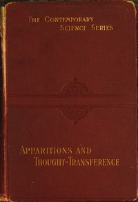 cover for book Apparitions and thought-transference: an examination of the evidence for telepathy