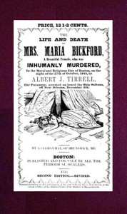 cover for book The Life and Death of Mrs. Maria Bickford