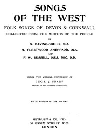 cover for book Songs of the West