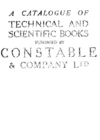 cover for book A catalogue of technical and scientific books published by Constable & Company Ltd