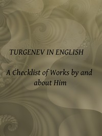 cover for book Turgenev in English: