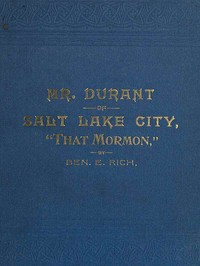 cover for book Mr. Durant of Salt Lake City