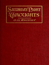 cover for book Saturday Night Thoughts
