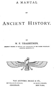 cover for book A Manual of Ancient History