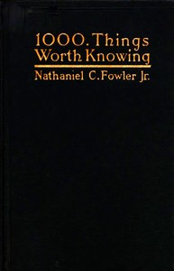 cover for book 1000 Things Worth Knowing