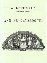 cover for book W. Kent & Co's Annual Catalogue, October 1858