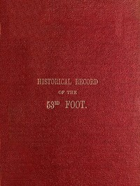 cover for book Historical Record of The Fifty-Third or Shropshire Regiment of Foot