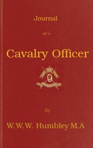 Cover of the book Journal of a Cavalry Officer by W. W. W. (William Wellington Waterloo) Humbley