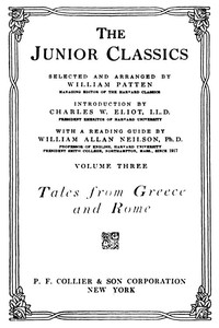 cover for book The Junior Classics, Volume 3: Tales from Greece and Rome