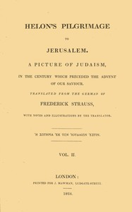 cover for book Helon's Pilgrimage to Jerusalem, Volume 2 (of 2)