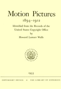cover for book Motion Pictures, 1894-1912