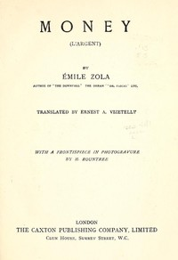 Cover of the book Money by Émile Zola