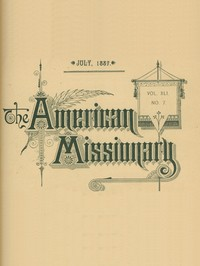 cover for book The American Missionary — Volume 41, No. 7, July, 1887